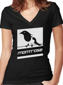 Montrose Magpies Women's Fitted V-Neck T-Shirt