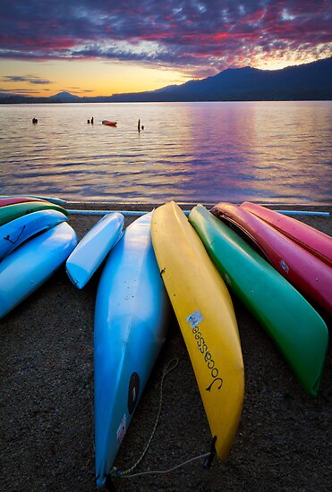 Lake Quinault Kayaks by Inge Johnsson