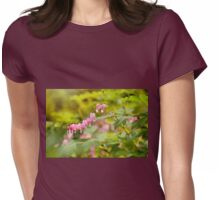 dangle heart flowers grow Womens Fitted T-Shirt