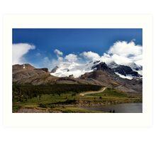 Athabasca  Glacier ..Columbia Ice Field  Art Print