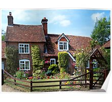 A Sweet Little Cottage and Garden  Poster
