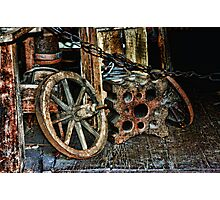 Old Farm Gear  Photographic Print