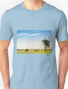 Rural grassland trees view Unisex T-Shirt