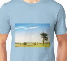 Rural grassland trees view Unisex T-Shirt