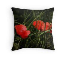 Night Poppies Throw Pillow