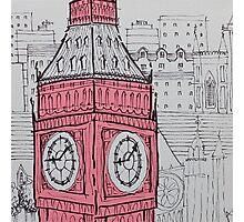 Big Ben In Pink Photographic Print