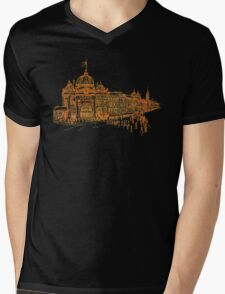 Flinders Street Station, Melbourne Mens V-Neck T-Shirt