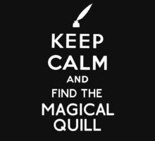 Keep Calm And Find The Magical Quill Baby Tee