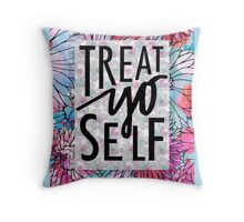 Treat Yo Self Parks and Recreation  Throw Pillow