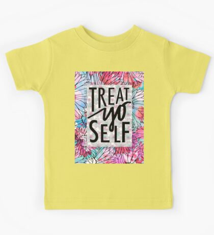 Treat Yo Self Parks and Recreation  Kids Tee