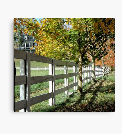 White Fence In Virginia Canvas Print