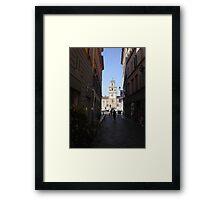 PARMA ...La strada che porta a P.zza Garibaldi--- ISOLAPEDONALE - PARMA  ITALIA - EUROPA- VETRINA RB EXPLORE 29 GIUGNO 2013 ! Framed Print