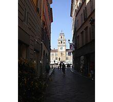 PARMA ...La strada che porta a P.zza Garibaldi--- ISOLAPEDONALE - PARMA  ITALIA - EUROPA- VETRINA RB EXPLORE 29 GIUGNO 2013 ! Photographic Print