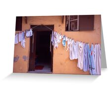 Washing Line. Rhodes Old Town, Greece Greeting Card
