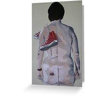nude with converse base ball boots Greeting Card
