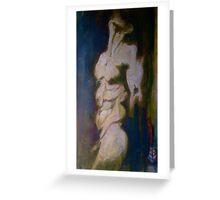 male nude - interesting lighting Greeting Card