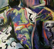 colourful nude lady by JasPeaches