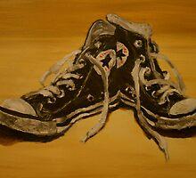 black converse base ball boots by JasPeaches