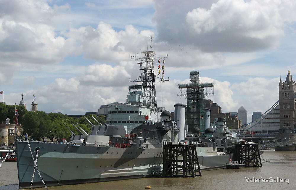 HMS Belfast by ValeriesGallery