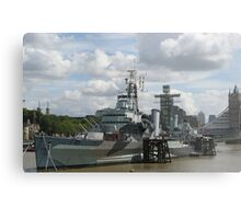 HMS Belfast Metal Print