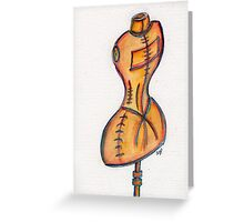 Victorian Dress Form  Greeting Card