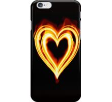 Flaming heart on Fire iPhone Case/Skin