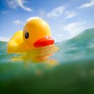 Swimming Rubber Ducky by ArtThatSmiles