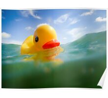 Swimming Rubber Ducky Poster
