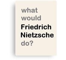 Nietzsche? Canvas Print