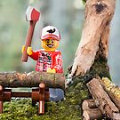 Lego Lumberjack by Kevin  Poulton - aka &#x27;Sad Old Biker&#x27;