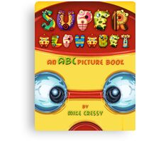 Super Alphabet Book Cover Canvas Print