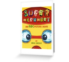 Super Alphabet Book Cover Greeting Card