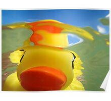 Rubber Duckie Snorkeling Poster