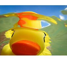 Rubber Duckie Snorkeling Photographic Print