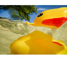 Abstract of Rubber Ducky Photographic Print