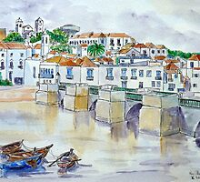 Tavira Bridge, Algarve by Woodie