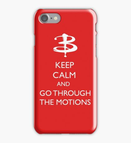 Go through the motions iPhone Case/Skin