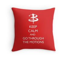 Go through the motions Throw Pillow