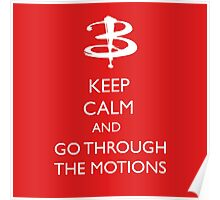 Go through the motions Poster