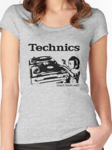 technics 2 Women's Fitted Scoop T-Shirt