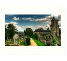 Views from the cementery, Stirling Art Print