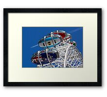 The London Eye and Jet Aircraft Framed Print