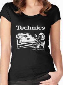 technics 3 Women's Fitted Scoop T-Shirt