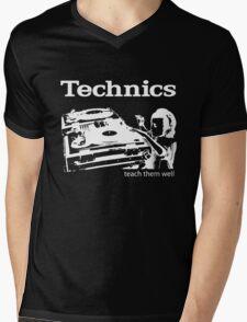 technics 3 Mens V-Neck T-Shirt