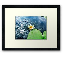 Reflections on a Cloudy Day Framed Print
