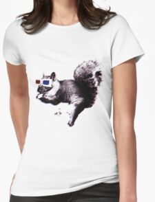 3D squirrel-vision Womens Fitted T-Shirt