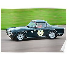 Triumph TR4 No 6 Poster