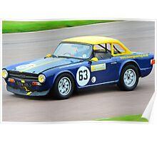 Triumph TR6 No 63 Poster