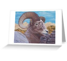Ram Bust Greeting Card
