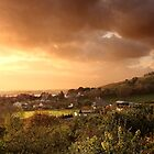 Dusk over Cheddar by TimLarge